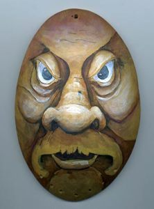 urban warrior wood spirit gourd mask