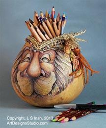 gourd art by Lora Irish