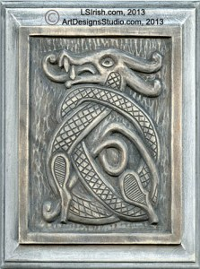 Celtic Dragon Wood Carving by Lora Irish