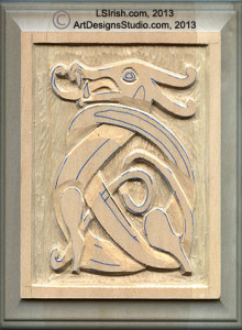 Sensational Wood Carving A Celtic Dragon Knot Pattern By Lora S Irish Bralicious Painted Fabric Chair Ideas Braliciousco