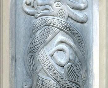 Wood Carving Celtic Dragon 3