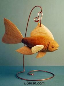 basswood fish decoy