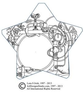 free pyrography pattern by Lora Irish
