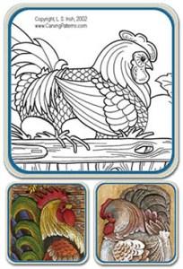 Hen, Rooster,Chicken Patterns by Lora Irish