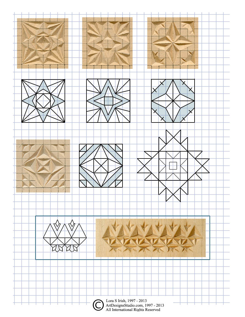picture regarding Printable Chip Carving Patterns titled Chip Carving, Chopping Triangle and Sq. Chips within Chip