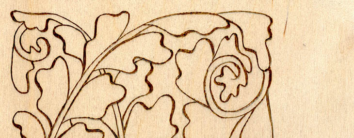 Thin to Thick Outlines for Pyrography