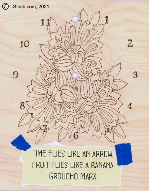 free pyrography clock pattern