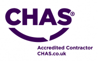 purple on white CHAS logo