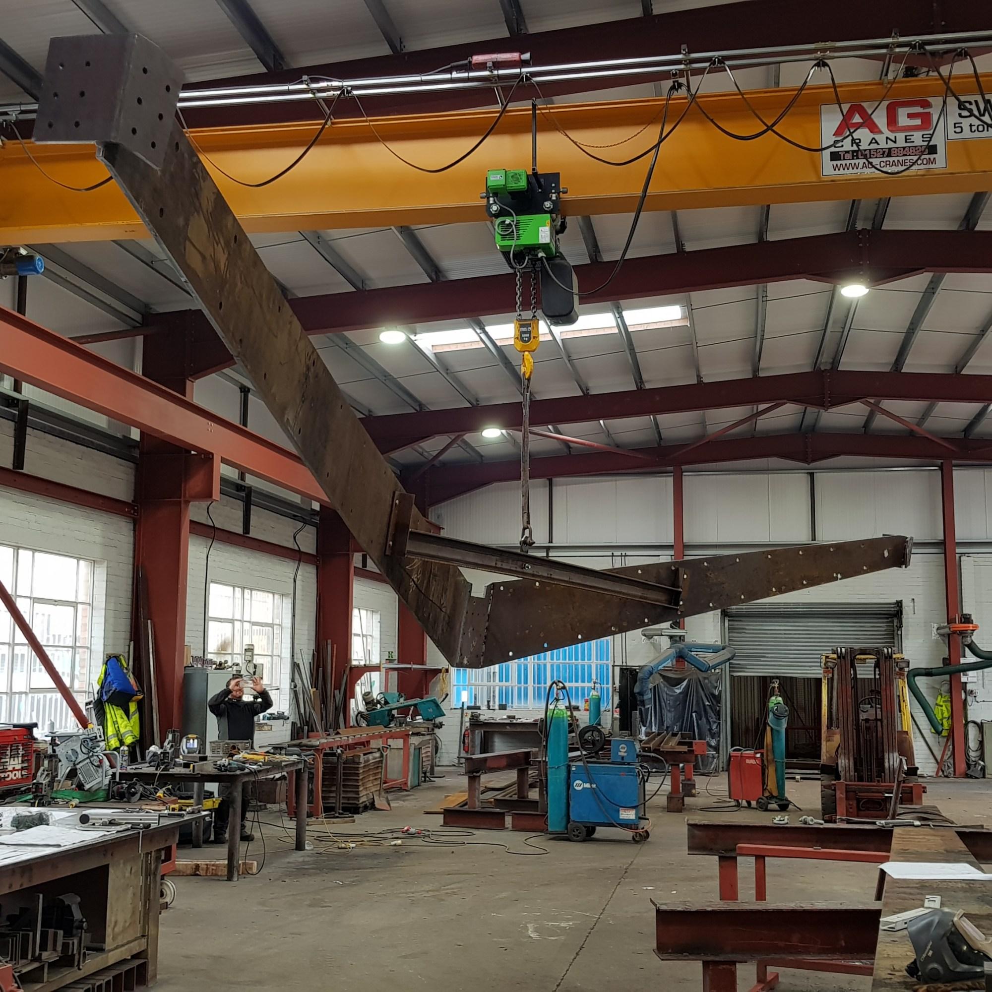 Horatio's Garden steel work at LSJ Engineering, Essex