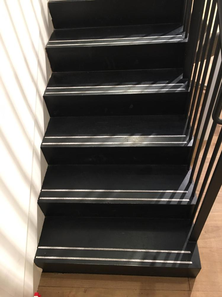 steel staircase at Cowcross St London