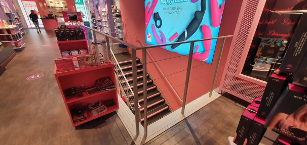 Bannister of steel staircase at Harmony, Oxford Street, London, by LSJ Engineering Essex