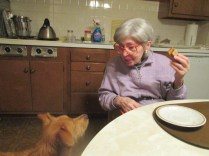 She loved Mani, which surprised everyone because she didn't like dogs most of her life.