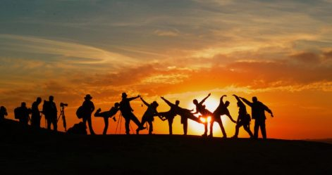 Image of a group of people holding hands and posing together on a beach at sunset. This represents the friendship and community I found through the Lichen Sclerosus Warriors. They inevitably helped me realize that I was indeed ready to try dilators again.