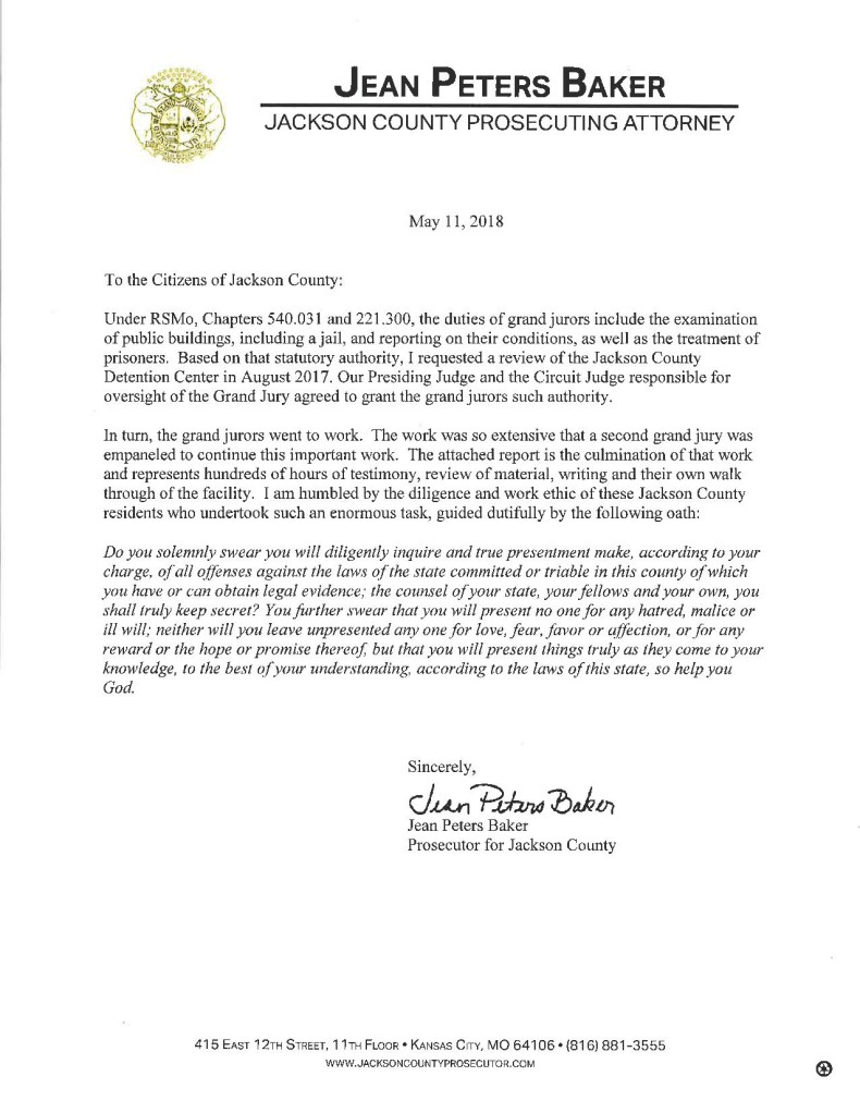 Jackson County Prosecutor's Letter to citizens