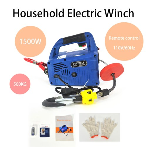 small resolution of  110v 500kgx7 6m portable household electric winch 1500w manual on electric scooter