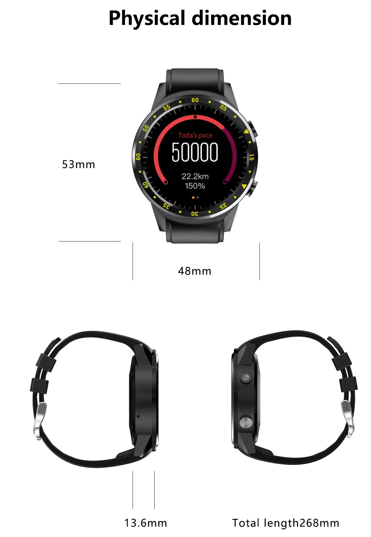 Android Wear Bluetooth Sports Smart Wrist Watch GPS SIM