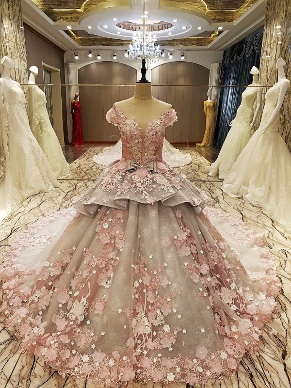O-nekc Ball Gown Wedding Dress 2018