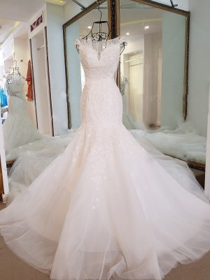 O-neck Mermaid Wedding Dress 2018