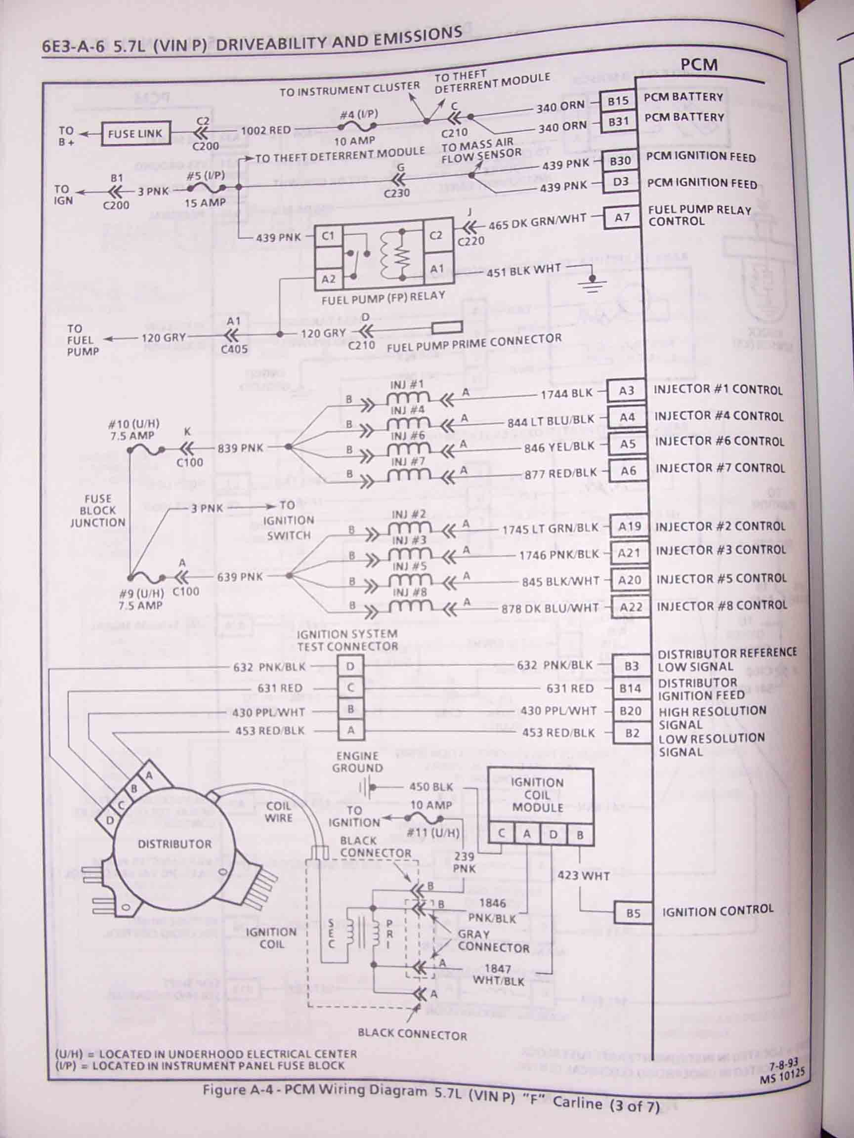 hight resolution of 1995 f body wire harness schematics 1994 pontiac 5 7l