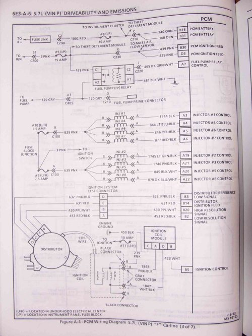 small resolution of 1995 f body wire harness schematics 1994 pontiac 5 7l
