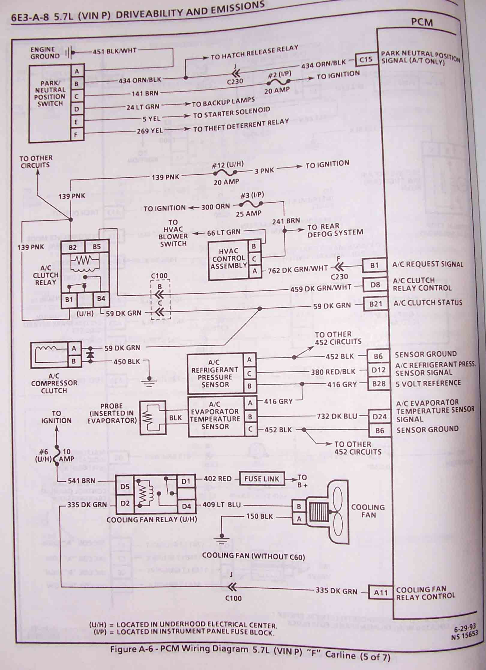hight resolution of 1995 f body wire harness schematics lt1 fan wiring schematic