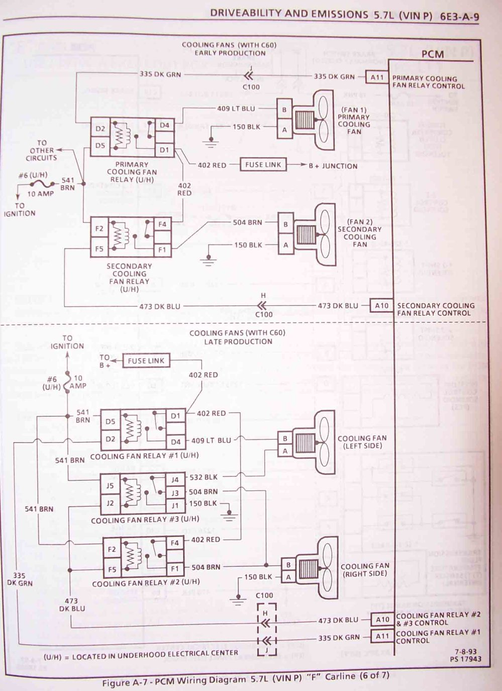 medium resolution of 1995 f body wire harness schematics lt1 fan wiring schematic