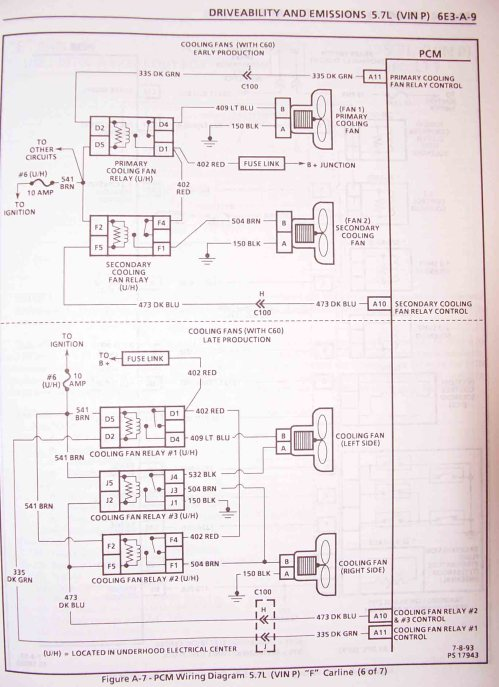 small resolution of 1995 f body wire harness schematics lt1 fan wiring schematic
