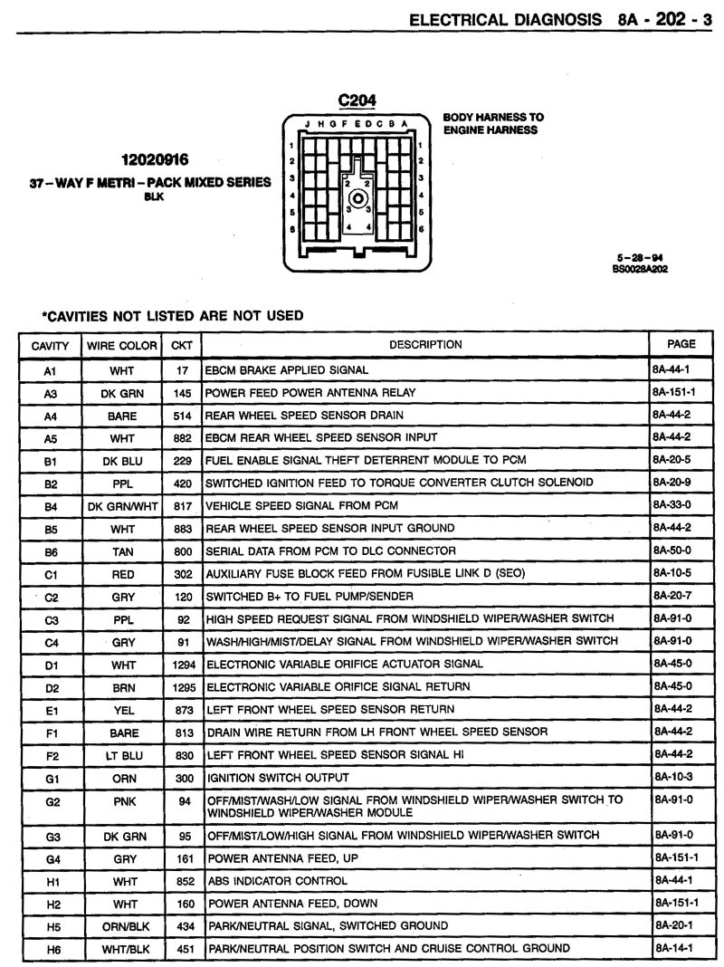 hight resolution of 1995 impala ss caprice roadmaster wire harness info 1994 nissan altima wiring diagram c204