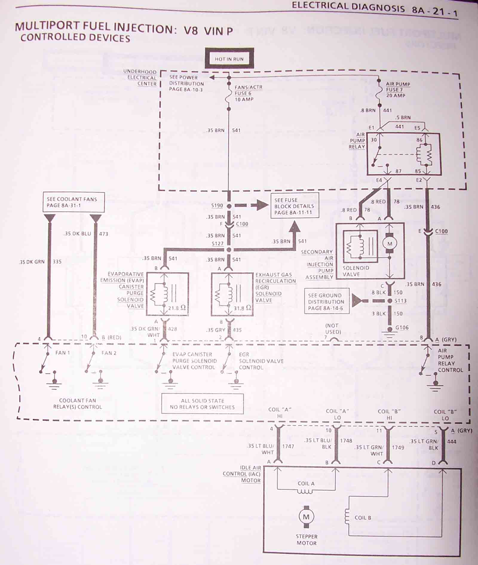 lt1 wiring diagram 1995 ford f150 radio 1993 camaro harness information controled devices