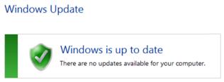 הודעה ש- Windows 7 מעודכן