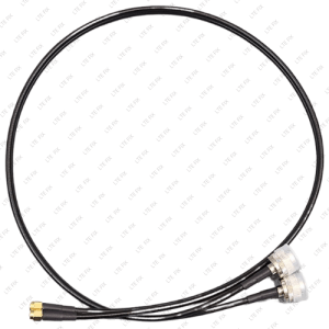 LMR200 Low Loss Duplex Coax (Dual) Cables N Male Connector 3 Feet 2 x N Male 2 x SMA Male Straight