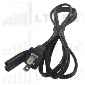 Power Cable 6 foot 2 Prong to Non-Polarized C7 Style