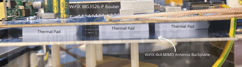 Thermal Pad Router Install Example