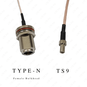Type N Female Bulkhead Straight to TS-9 Male Adapter Pigtail