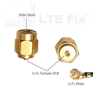 U.FL Female PCB to SMA Male Adapter