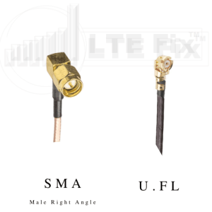 U.FL Female (Right Angle) to SMA Male (Right Angle) RG178 (1.78mm) Pigtail Cable