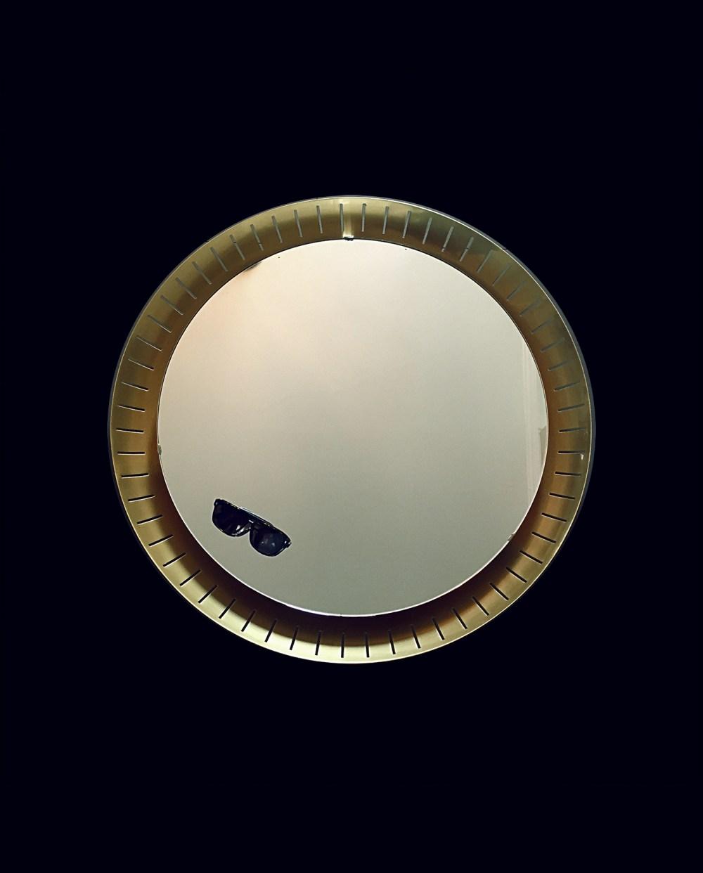 miroir rétro éclairant vintage 1960