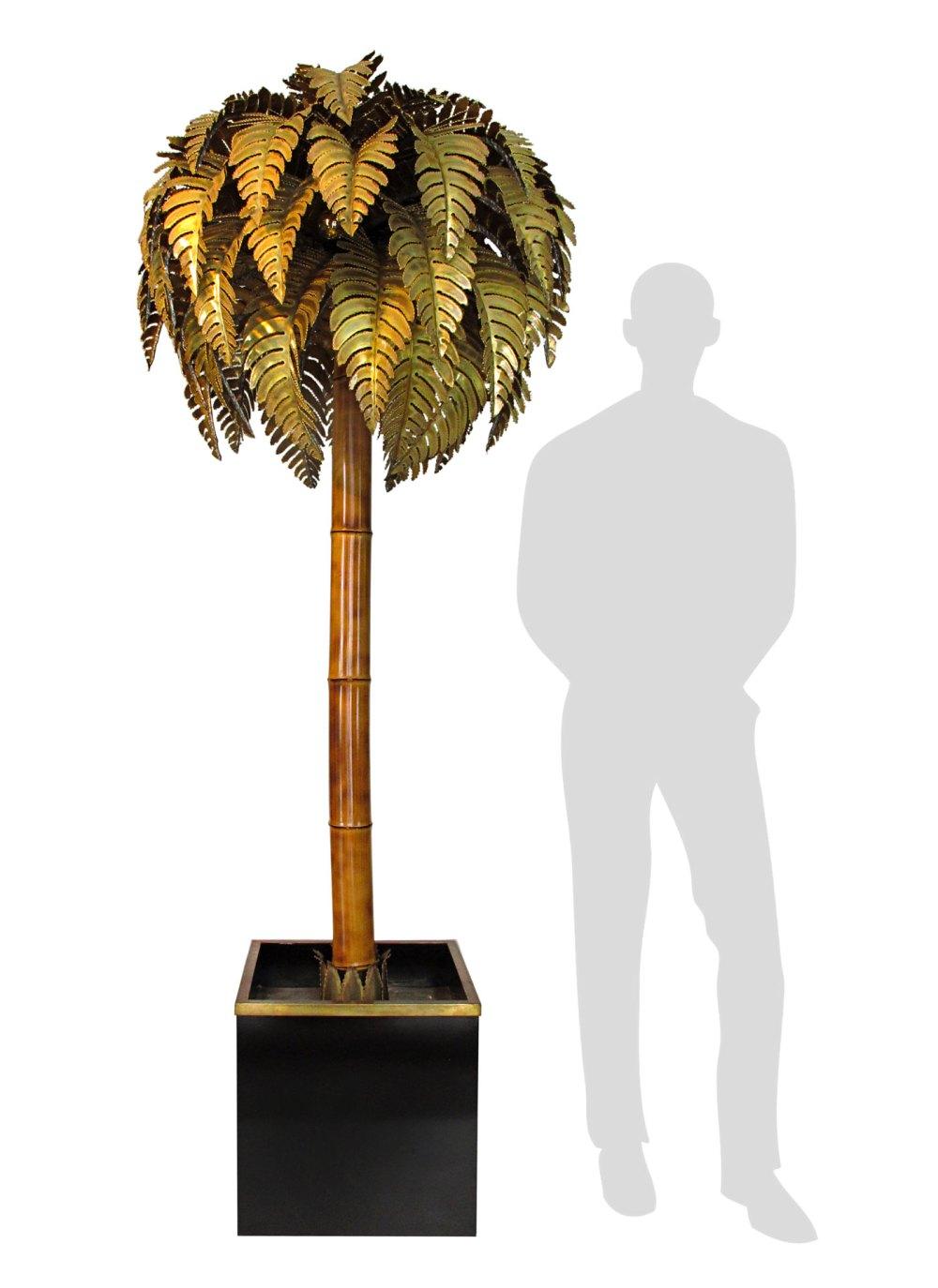 lampadaire palmier maison jansen 1970, ltgmood.com