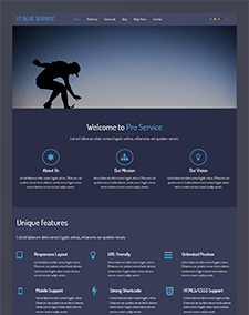 LT Blue Service Onepage Free One Page Responsive Service Joomla Template