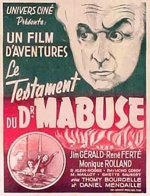 Le Testament Du Docteur Mabuse : testament, docteur, mabuse, Mabuse, Testament, Mabuse), (1933)