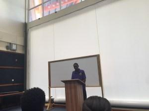 Mr. Aaron Weeks's speech