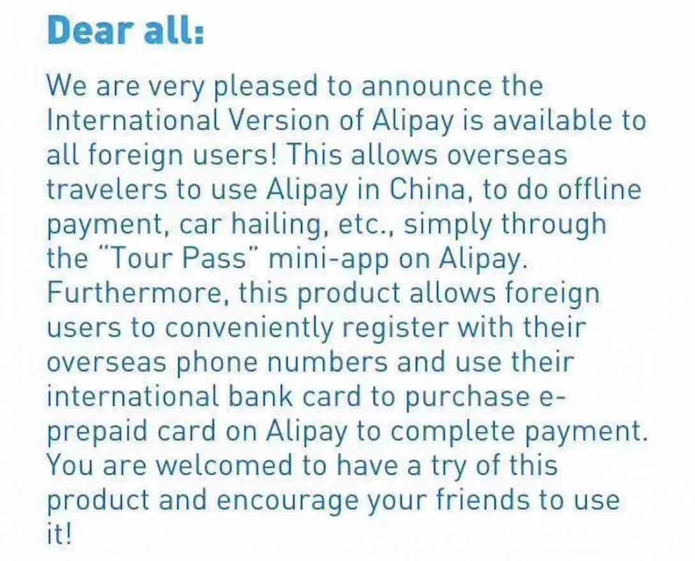 Using Alipay in China for Foreigners