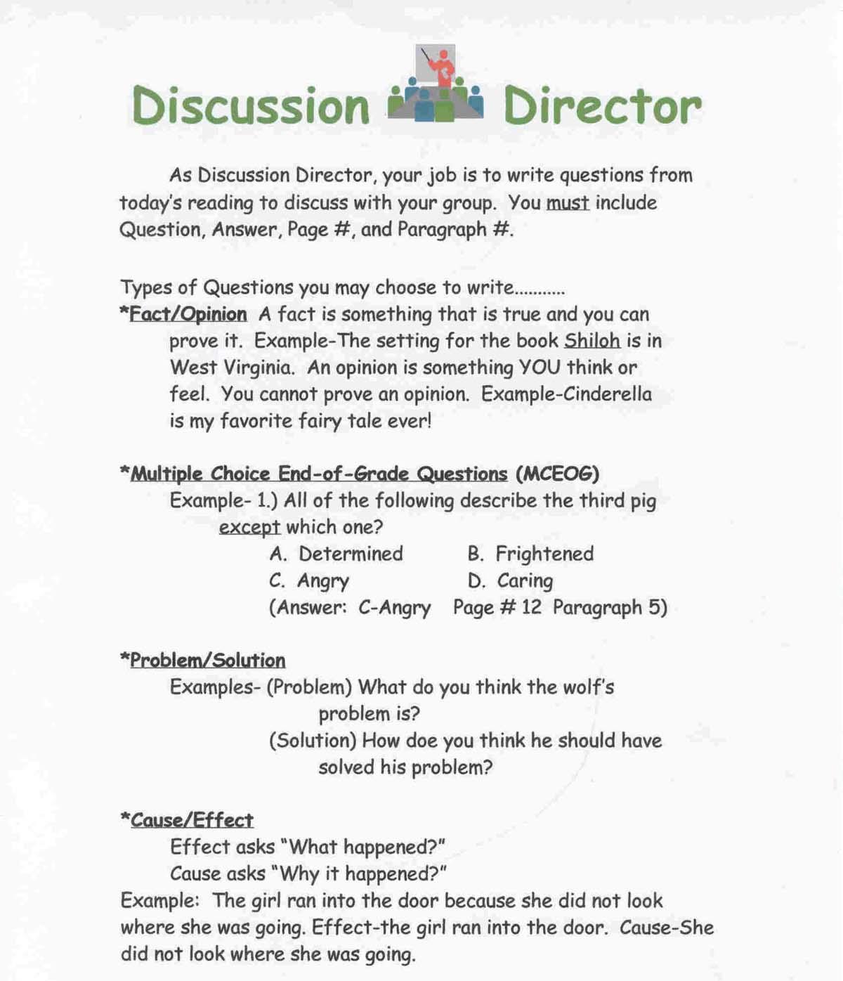 Job Description Sheets