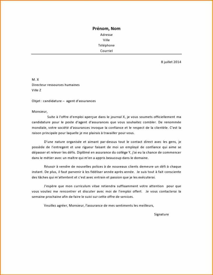 Lettre De Motivation Pour Un Bts Assurance - Lettre Modele