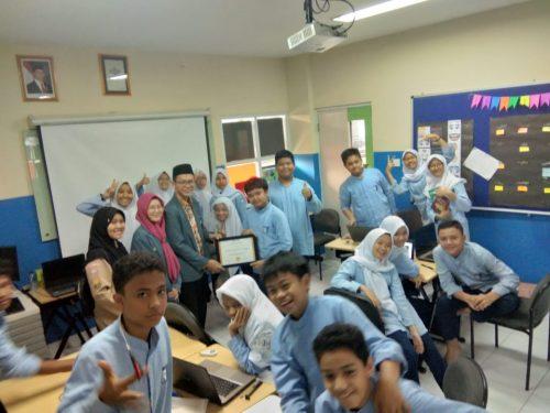 IPNU-IPPNU Depok Ajarkan Jurnalistik Sebagai Pembekalan Pengurus OSIS SMP Lazuardi Al Falah