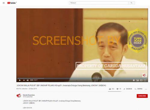 [SALAH] Video Jokowi Mulai Pucat SBY Ungkap Pelaku Korupsi