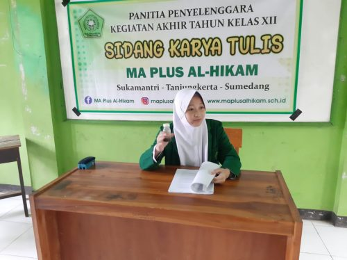 Di MA Plus Al-Hikam Mengikuti Sidang Karya Tulis Jadi Syarat Kelulusan