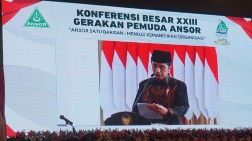 Presiden Jokowi Ajak Ansor Kolaborasi Atasi Pandemi Covid-19
