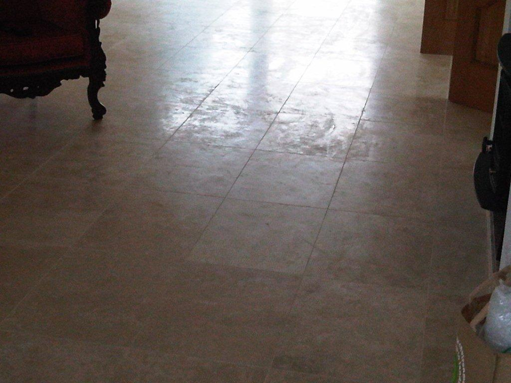 why do my polished porcelain tiles look