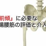 骨盤前傾に必要な腸腰筋への評価・介入方法